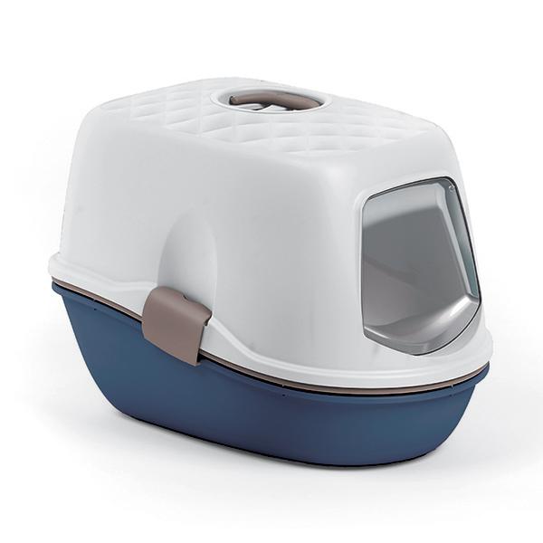 ※テレビで紹介されましたフルバキャットトイレのハウスタイプです※【イタリア】イタリア製ネコトイレ フルバトップチック キャットトイレ Navy blue【ネコトイレ 猫トイレ 消臭トイレ クレバーキャット】