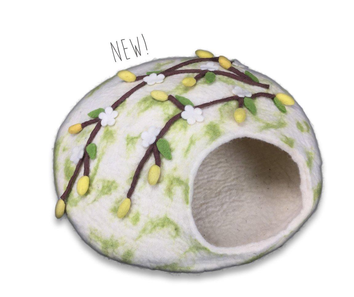 【アメリカWalking Palms 】猫用ベッド アメリカWalking Palms メイドインUSA スペシャルエディションウォーキングパームキャットケイブ チェリーブロッサム