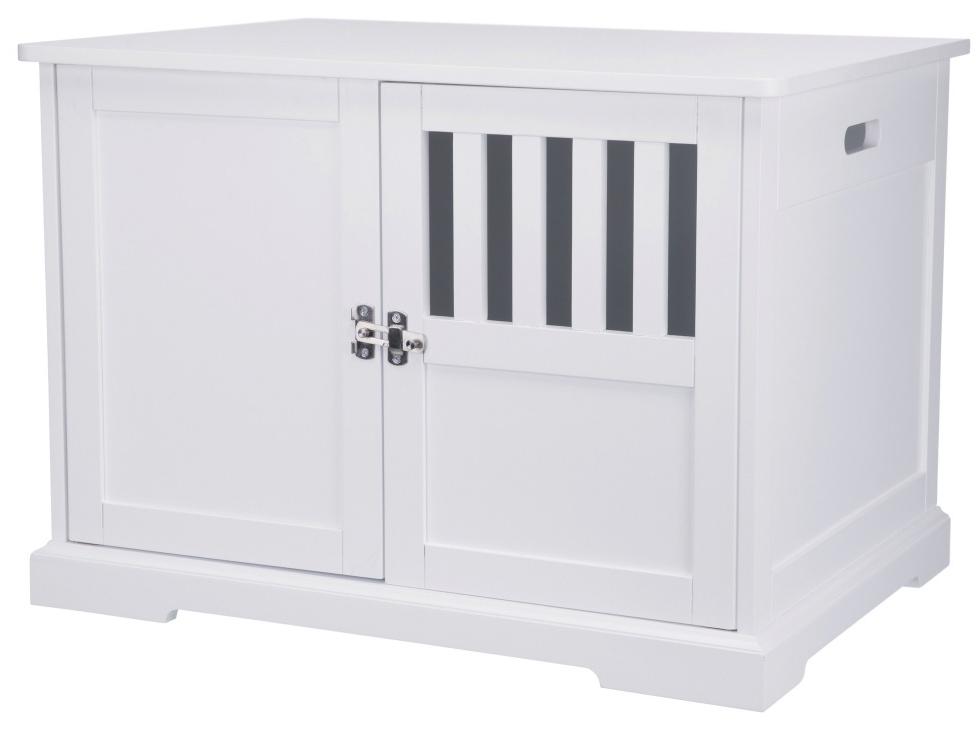 【TRIXIEPET】 ドッグハウス 犬小屋 ウッドペットクレートエンドテーブルハウス M ホワイト