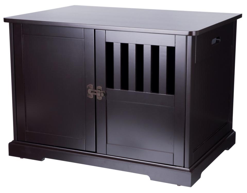 【TRIXIEPET】 ドッグハウス 犬小屋 ウッドペットクレートエンドテーブルハウス M ブラウン