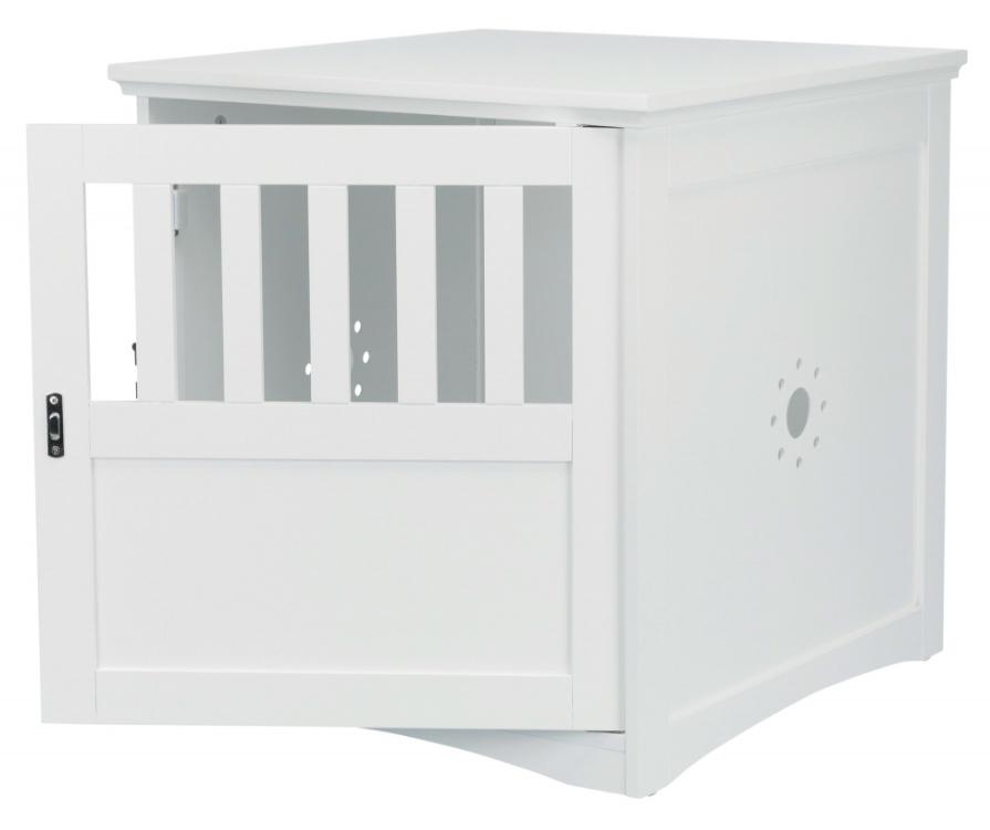 【TRIXIEPET】ドッグハウス 犬小屋 ウッドペットクレートエンドテーブルハウス S ホワイト
