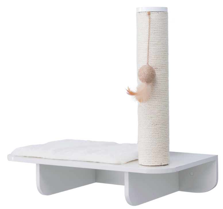 【ドイツTRIXIE】スクラッチタワー ドイツTRIXIE キャットタワー 壁取り付け用キャットタワー リラックスベース&スクラッチポストホワイト