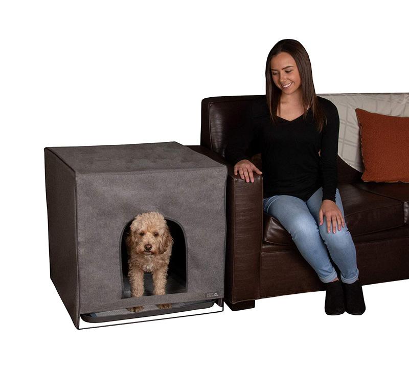 【PET GEAR】犬用トイレ ペットギアPET GEAR トイレトレーニングハウス プロパウティーL チャコールグレー