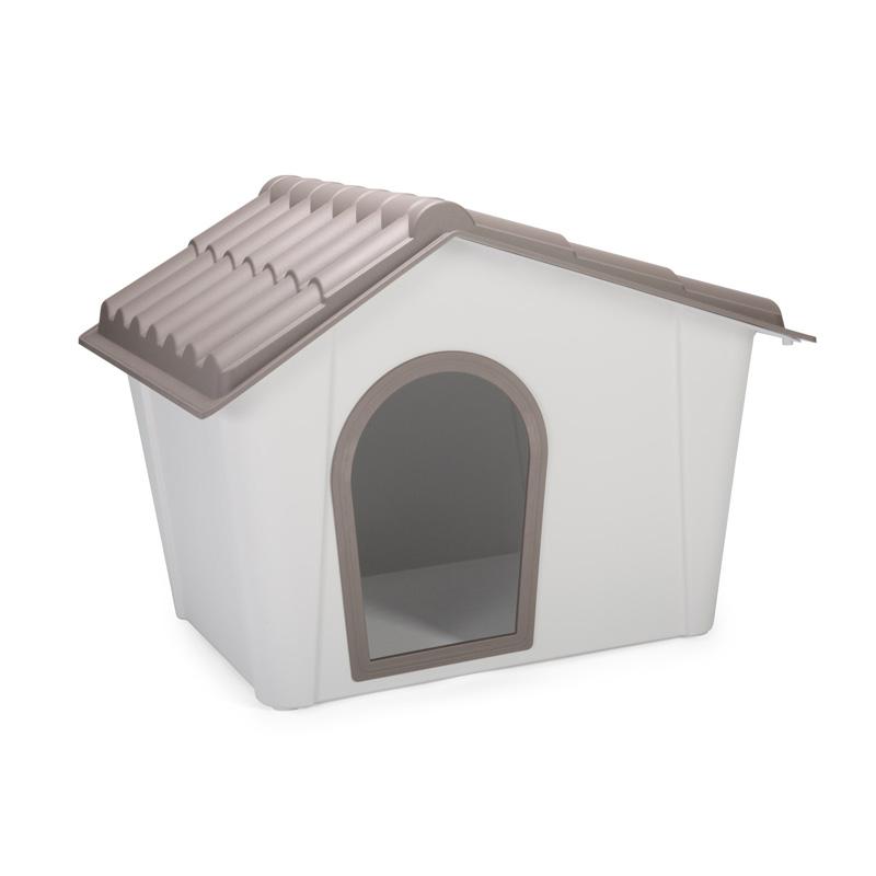 ※新入荷しました!大きめサイズです【イタリアIMAC】新発売!カラーリングがきれいなおしゃれな屋外用犬小屋!IMAC ドッグハウス ゼウス90 グレー【ドッグハウス 犬小屋 ベッド マット アウトドア 学校 幼稚園】