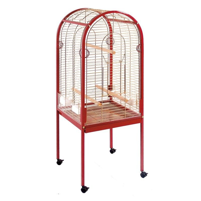 【スペインCOPELE】鳥かご 鳥小屋 スペインCOPELE バードケージ スモールカーブパロットケージ レッド