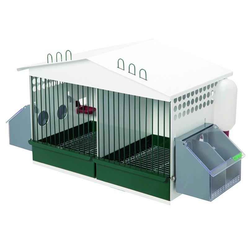 【スペインCOPELE】鳥かご スペインCOPELE バードケージ ガルバナイズドパートリッジケージ 2セクション グリーン