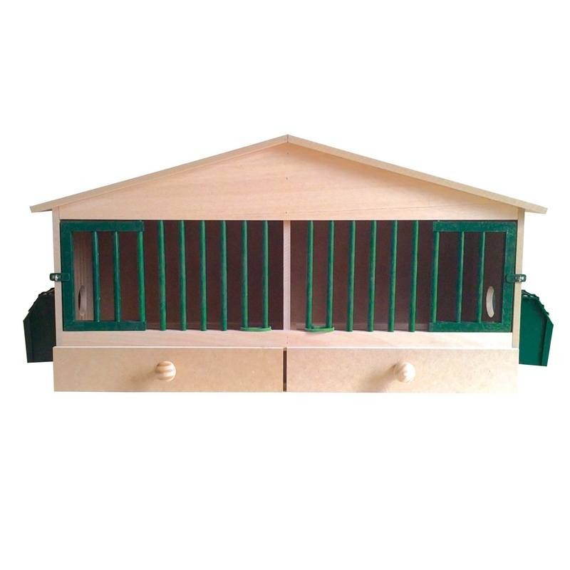 【スペインCOPELE】鳥かご スペインCOPELE バードケージ パートリッジウッドハウスケージ2セクション