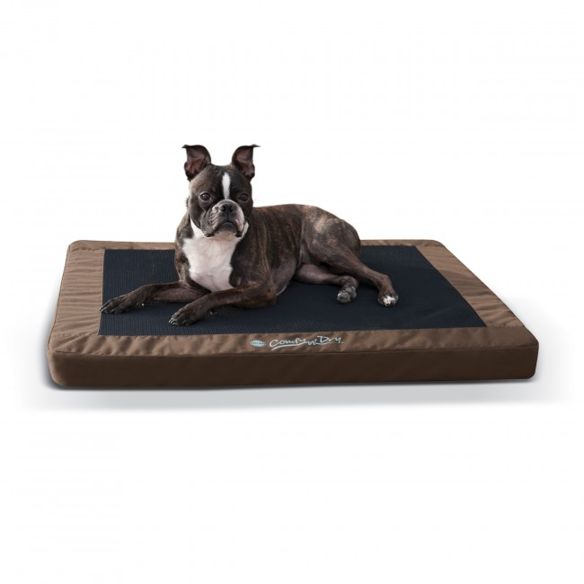 【K&Hペットプロダクツ】室内外で使用できる最も快適に過ごせるペットベッド! ひんやりグッズ コンフィドライペットベッドM チョコ