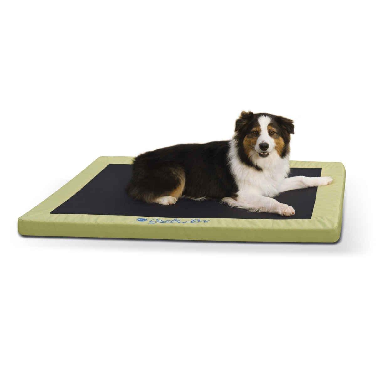【K&Hペットプロダクツ】室内外で使用できる最も快適に過ごせるペットベッド! ひんやりグッズ コンフィドライペットベッドL ライムグリーン