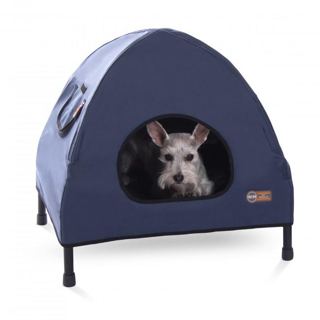 屋内外で使用できるペットベッド KHペットプロダクツ 室内外で使用できる最も快適に過ごせるペットベッド 着後レビューで 送料無料 アウトドアドッグメッシュベッド 5%OFF ネイビー ペットコットハウスベッド S