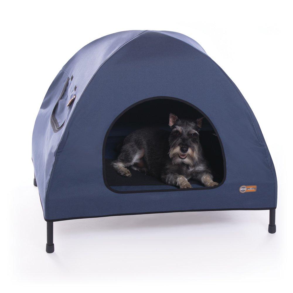 【K&Hペットプロダクツ】室内外で使用できる最も快適に過ごせるペットベッド! アウトドアドッグメッシュベッド ペットコットハウスベッド M ネイビー