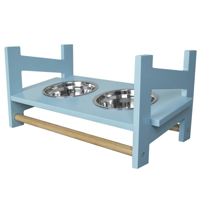 【アメリカFurHaven】 犬用食器 アメリカFurHaven ペットアジャスタブルフィーダーフードボウル S ブルー