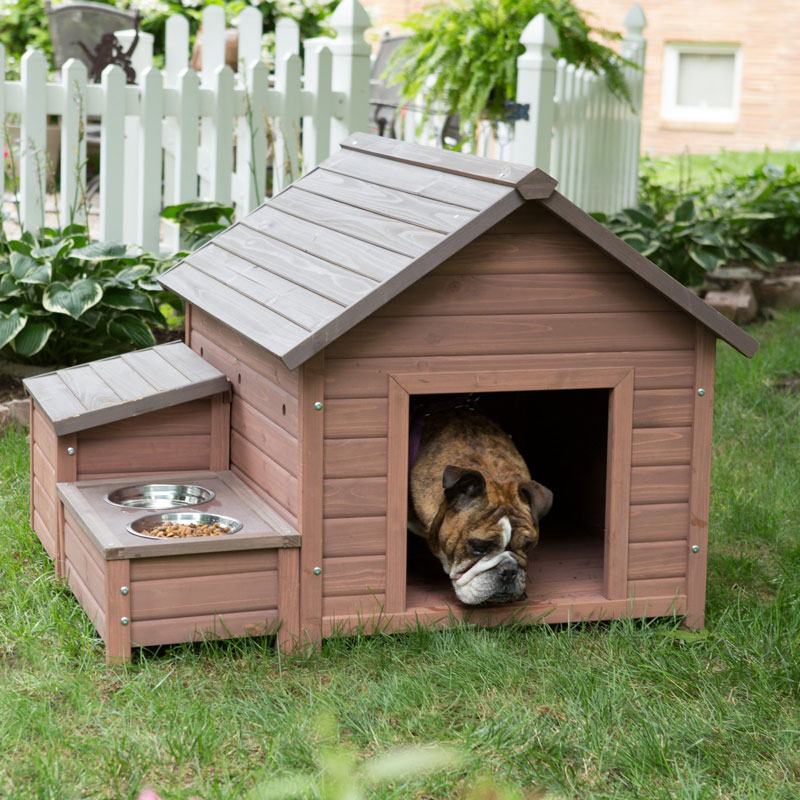 【Boomer & George 】犬小屋 アメリカBoomer & George  ドッグハウス AフレームドッグハウスWith Food Bowl Tray and Storage Cubby【犬小屋 大型犬 超大型犬 多頭飼い】