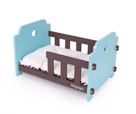 【台湾イビヤヤ】完全にわんちゃんだけの空間で囲まれたペット用ベッドです。ibiyaya イビヤヤ ペットクリブベッド ブルー×ブラウン【ベッド マット インテリア キャリーバッグ ペットカート 折りたたみ 軽量 ショルダーバッグ】