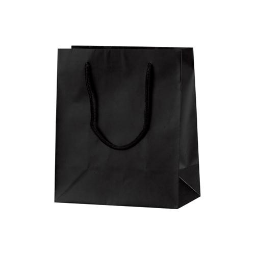 手提げバッグ マット黒 S22 バッグ bag 紙バッグ 紙袋 手提げ袋 プレゼント ギフト 包装 梱包 誕生日 シンプル レジ 荷物入れ 雑貨 買い物バッグ 国内送料無料 かわいい 買い物 包装資材 マチあり 上品 おしゃれ 50-6321 袋 店舗 アクセサリー 小物 ラッピング ペーパーバッグ