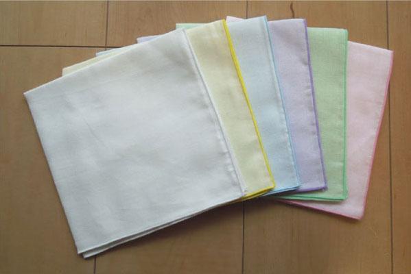 在面向彩色纱布手帕6张安排/小孩的/杂货手帕/生日: