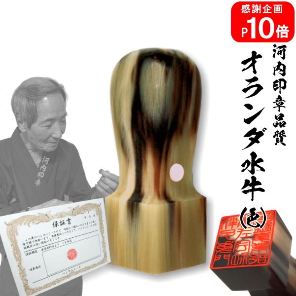 法人角印☆オランダ水牛(色) 21.0mm☆