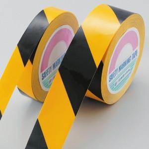 【最大1000円OFFクーポン発行中】日本緑十字社 ガードテープ (再はく離タイプ) GTH-251TR 黄/黒 149016