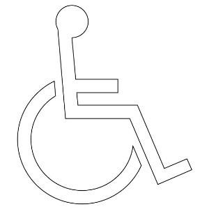 【最大1000円OFFクーポン発行中】ユニット UNIT 路面表示シート 835-013 身障者/マーク 1100H×965W