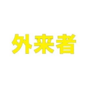 【最大1000円OFFクーポン発行中】ユニット UNIT 路面表示シート 835-029Y 文字 外来者 300×300 黄