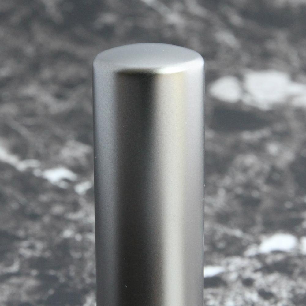 ブラストチタン 16.5mm 法人印鑑 会社実印 寸胴型 チタン印鑑 チタンはんこ マットチタン 実印 銀行印 事務用品 ケース付き