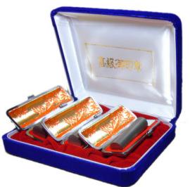 メール便送料無料 はんこ・印鑑 判子 ハンコヤ 個人3本ケースセット 実印・銀行印・認印 実印18.0mm 銀行印16.5mm 認印15.0mm チタン送料込 個人印鑑 アタリ付 smtb-KD 高品質,限定SALE