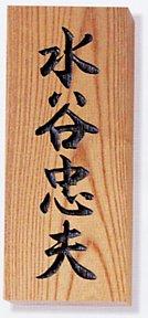 表札 木 木製表札 ウッド 戸建 天然木(けやき・彫込)サイズ:210×87×30mm【送料無料】[宅配便]