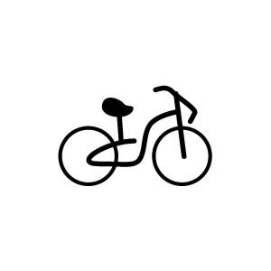 楽天市場ゴム印イラストスタンプ 88mm自転車e 013スタンプ