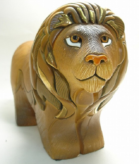 送料無料 ライオン 419陶器 置物 動物 ライオン らいおん 獅子 lion 百獣の王 ペット インテリア オブジェ 雑貨 おしゃれ かわいい 贈り物 プレゼント