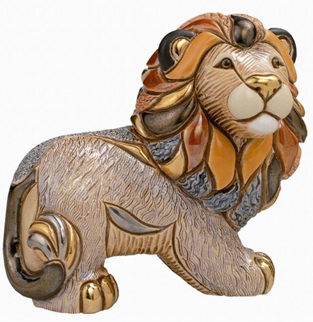 送料無料 ライオン親 F113陶器 置物 動物 ライオン らいおん 獅子 lion 百獣の王 ペット インテリア オブジェ 雑貨 おしゃれ かわいい 贈り物 プレゼント