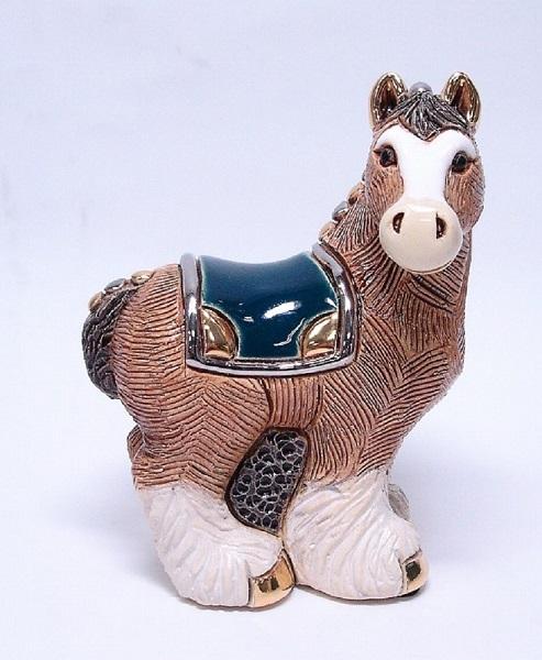 送料無料 スコットランド荷馬親 F191陶器 動物 置物 馬 午 ウマ うま 干支 十二支 horse ホース ペット インテリア オブジェ 雑貨 おしゃれ かわいい 贈り物 プレゼント ウルグアイ製