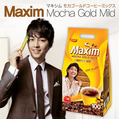 ソウル市場 激安通販専門店 韓国食品 マクシム 韓国コーヒー おしゃれ ミックスコーヒー MAXIM カフェラテ モカゴールド ジュース マキシム コーヒーミックス 100包 マイルドコーヒー コーヒー