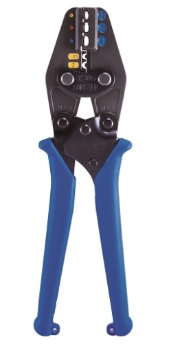 エビ (ロブテックス) マルチミニ圧着工具 AKM2 1丁で「絶縁」と「裸」の6サイズに対応! 使い勝手、持ち運びがグーンと便利に! 電気工事 車両内配線 分電盤作業