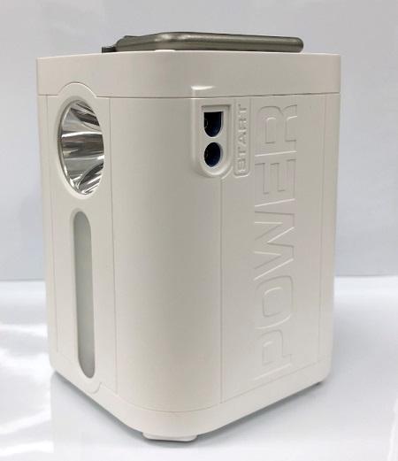 パワーバンク YD-PB01-W 1.2kg 軽量 コンパクト 多機能 アウトドア用電源 100V電源 コンセント USB対応 LEDライト ジャンプスターター 防災 アウトドア 非常用 ポータブル
