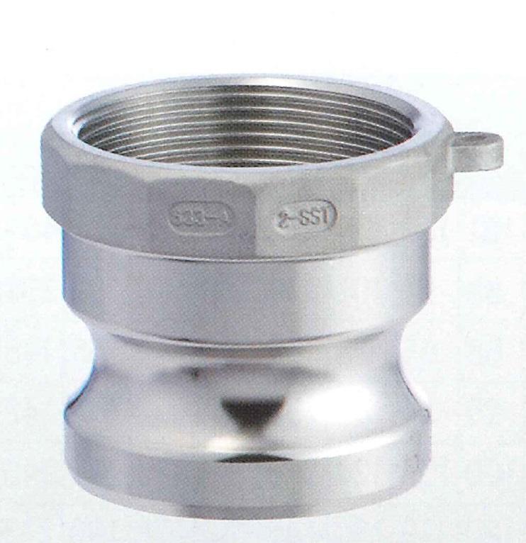 高い素材 操作簡単 時間とコストを大幅削減 トヨックス カムロックアダプター おすすめ メネジ ステンレススチール SUS 2 633-AB-2-SUS 633-AB 安心 簡単 50A TOYOX 短納期