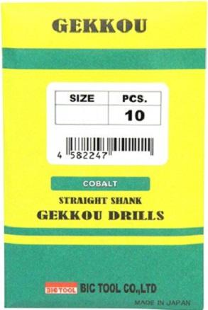 ビックツール 月光ドリル 6.4mm GKD6.4 10本入 ステンレス 切れ味 耐久性 食い付きがいい 穴あけ 切削