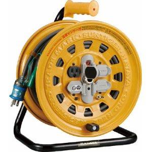 ハタヤ 温度センサー付コードリール BG-301KXS 単相100V 30M 3芯 三相 ブレーカー付 アース付 ハタヤリミテッド 送料無料 電工ドラム