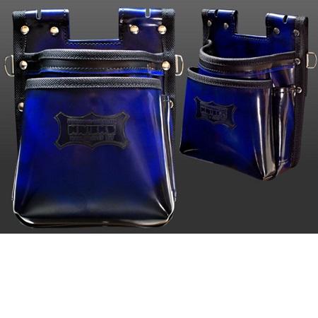 【在庫有り即納】ニックス(KNICKS) ADV-201TB-BL 青 鳶職向仕様ツーウェイタイプガラス革2段腰袋 ブルー