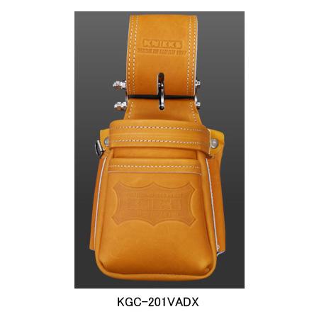 【在庫有り即納】ニックス(KNICKS) KGC-201VADX 最高級硬式グローブ革チェーンタイプ小物腰袋(VAストリッパーフォルダー)(キャメル) 腰袋 工具袋 道具袋