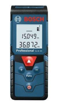 BOSCH ボッシュ レーザー距離計 GLM40 軽量 スリム 最小 携帯に便利 防じん 防水 耐衝撃 強い 丈夫 耐久性 距離測定器 限定