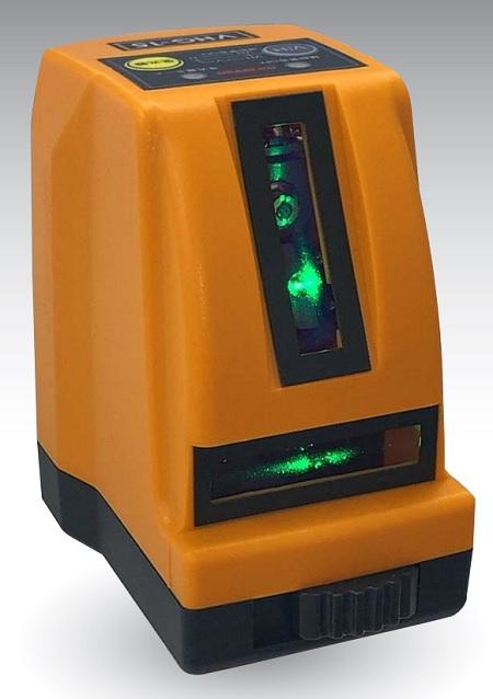 受光器対応 コンパクトレーザー墨出し器 送料無料 アックスブレーン タテ ヨコグリーンレーザー墨出し器 ※ラッピング ※ VHG-15 注文後の変更キャンセル返品 緑色 屋外兼用 保険付 コンパクト 屋内 収納ケース付