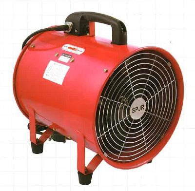 【サンピース】ポータブルファン SPJ-300F2 300φ 加熱保護機能付 安全 耐久性 送風 排気 煙 粉じん 酸欠防止