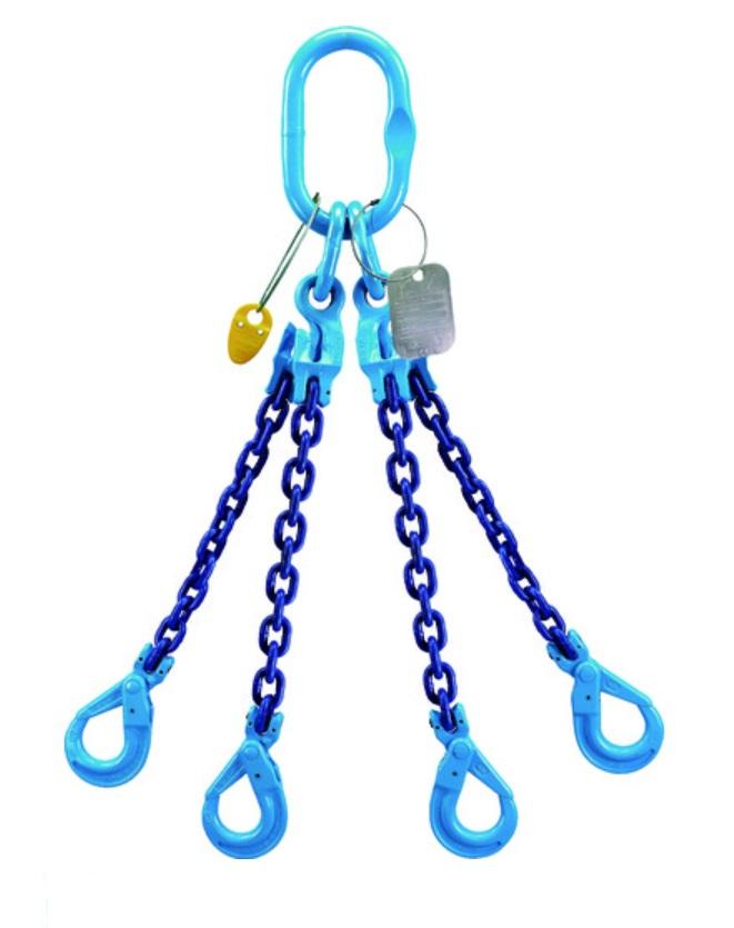 YOKE XQB-06 チェーンスリングGrabEX(4本吊り) RFID付 長さ調節機能付 1個 仕様荷重2.1t ヨーク