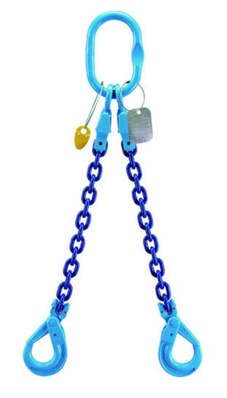 YOKE XTB-08 チェーンスリングGrabEX(2本吊り) RFID付 長さ調節機能付 1個 使用荷重2.5t ヨーク