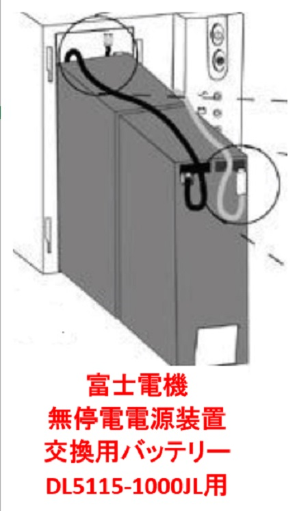 【送料無料】富士電機 無停電電源装置(UPS)交換用バッテリー 5115RBM-1000(DL5115-1000JL用)