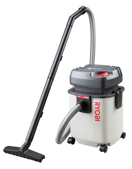 【リョービ】 集塵機 VC-1200 乾湿両用 (吸込仕事率160W) カートリッジフィルタ仕様 排水用ドレン付 市販ポリ袋の取付可能 送料無料