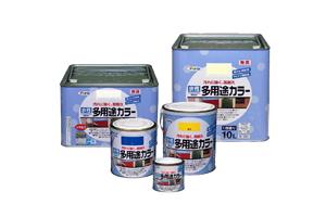 【アサヒペン】 水性多用途カラー 10L 白 461810 塗料/ペンキ