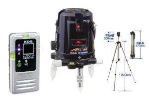 【KDS】ATL-65RSA オートラインレーザー 本体+受光器+三脚付 高輝度 磁気制動方式