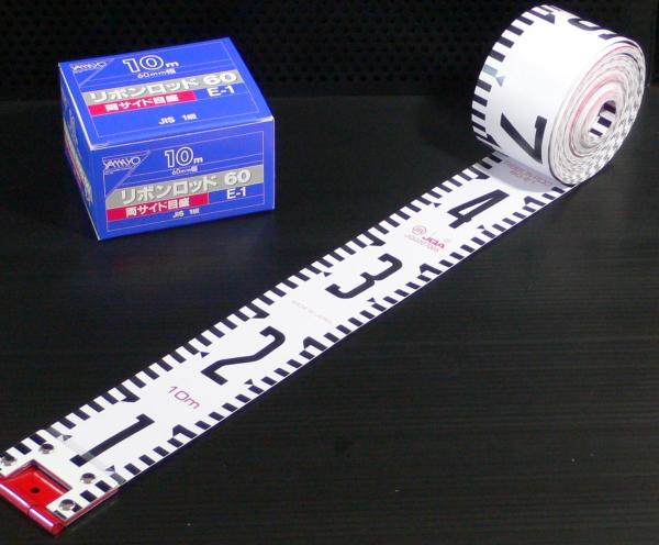 【ヤマヨ測定機】60mm巾×50m 『リボンロッド』 60E-1 R6A50
