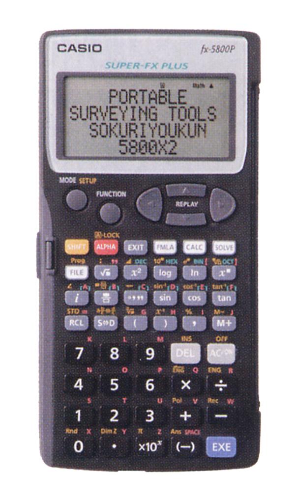 【ヤマヨ測定機】『即利用くん』 測量用関数電卓 5800X2